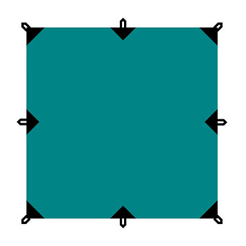 Тент серия Camping 3x5 м, цвет зелёный