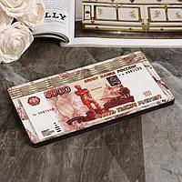 """Купюрница """"5000 рублей"""", плоская, печать, 18,5х9,5х0,8 см"""
