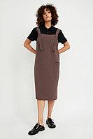Платье женское Finn Flare, цвет коричневый, размер S