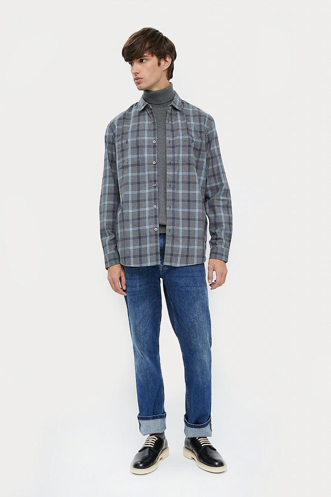 Рубашка мужская Finn Flare, цвет серый, размер L - фото 1