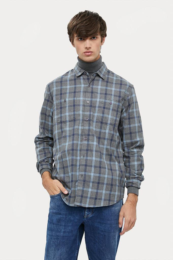 Рубашка мужская Finn Flare, цвет серый, размер L - фото 2
