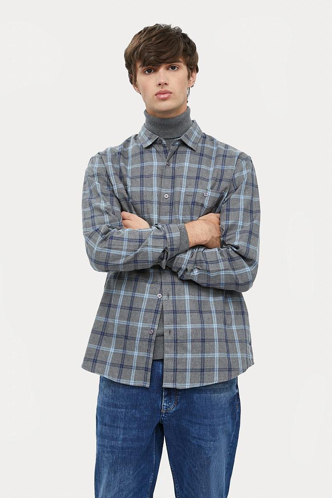 Рубашка мужская Finn Flare, цвет серый, размер L - фото 3