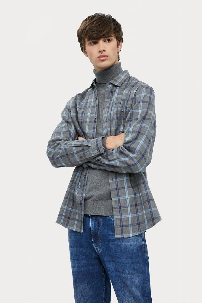 Рубашка мужская Finn Flare, цвет серый, размер L - фото 4