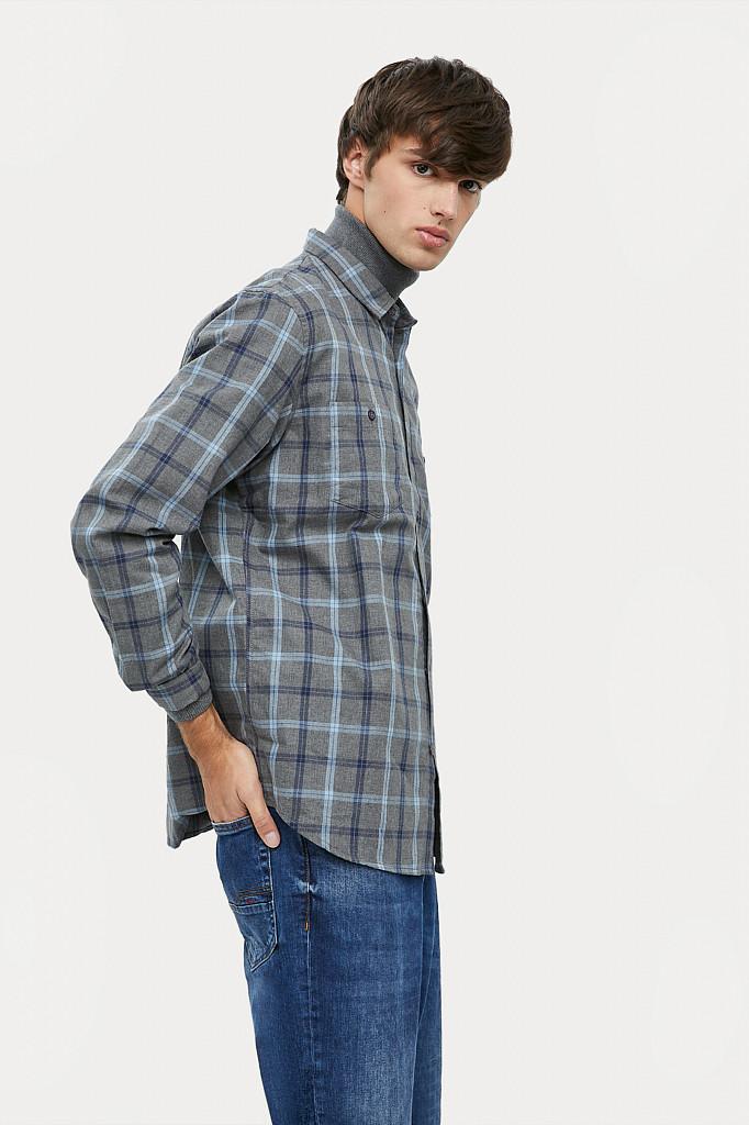 Рубашка мужская Finn Flare, цвет серый, размер L - фото 5