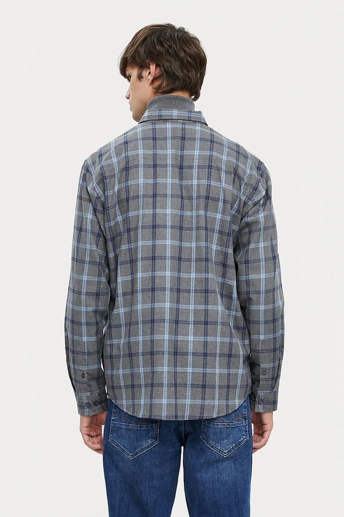 Рубашка мужская Finn Flare, цвет серый, размер L - фото 6