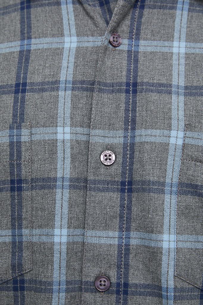 Рубашка мужская Finn Flare, цвет серый, размер L - фото 7