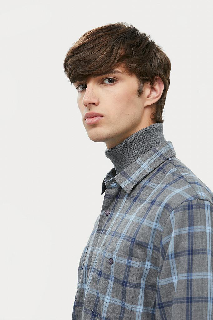 Рубашка мужская Finn Flare, цвет серый, размер L - фото 8
