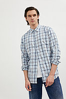 Верхняя сорочка мужская Finn Flare, цвет светло-голубой, размер 3XL