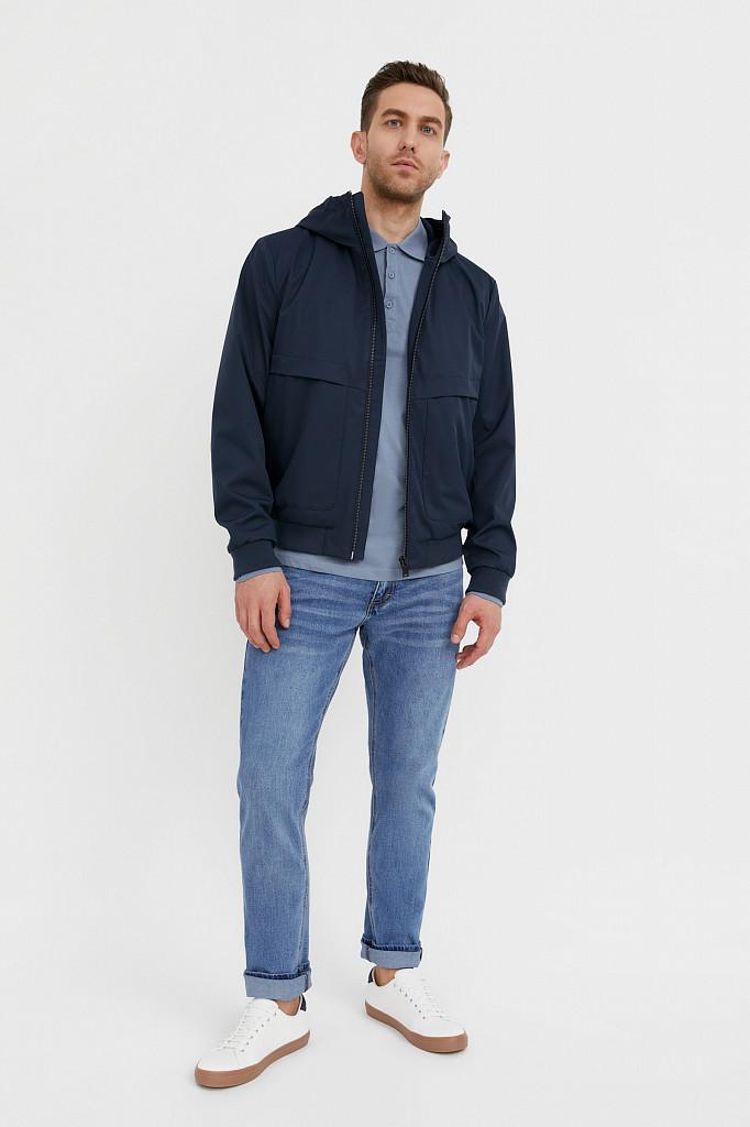 Непромокаемая ветровка с капюшоном Finn Flare, цвет темно-синий, размер 3XL - фото 2