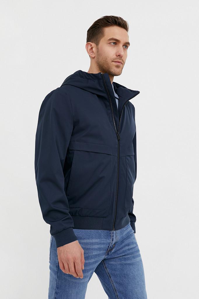 Непромокаемая ветровка с капюшоном Finn Flare, цвет темно-синий, размер 3XL - фото 3