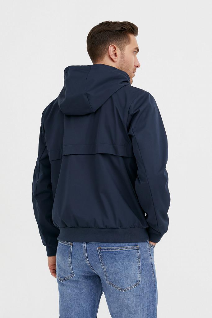Непромокаемая ветровка с капюшоном Finn Flare, цвет темно-синий, размер 3XL - фото 5