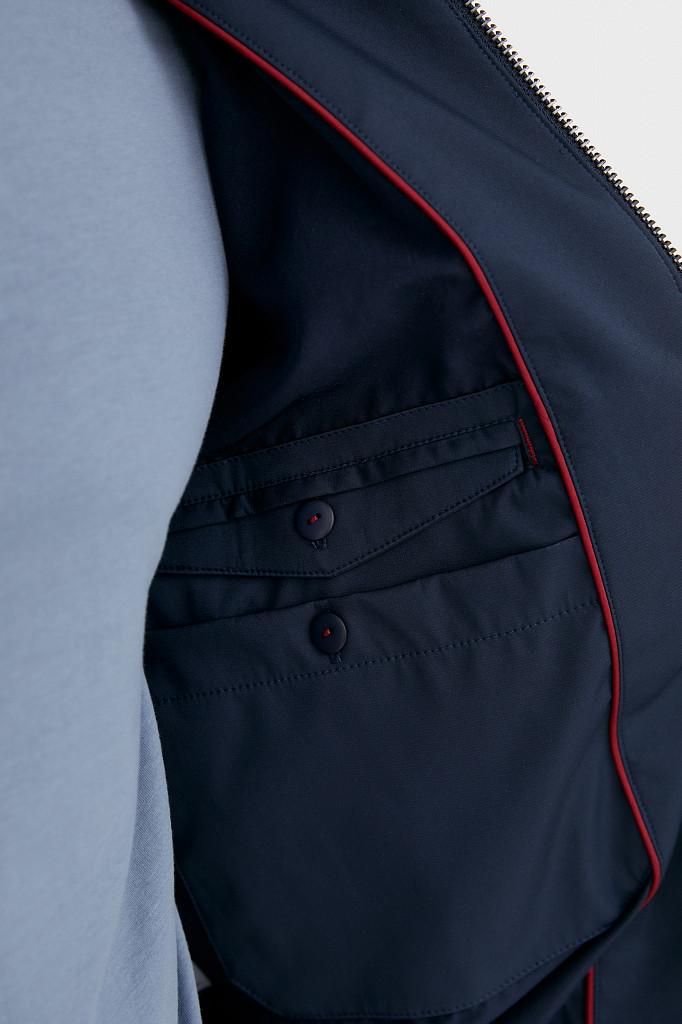 Непромокаемая ветровка с капюшоном Finn Flare, цвет темно-синий, размер L - фото 4