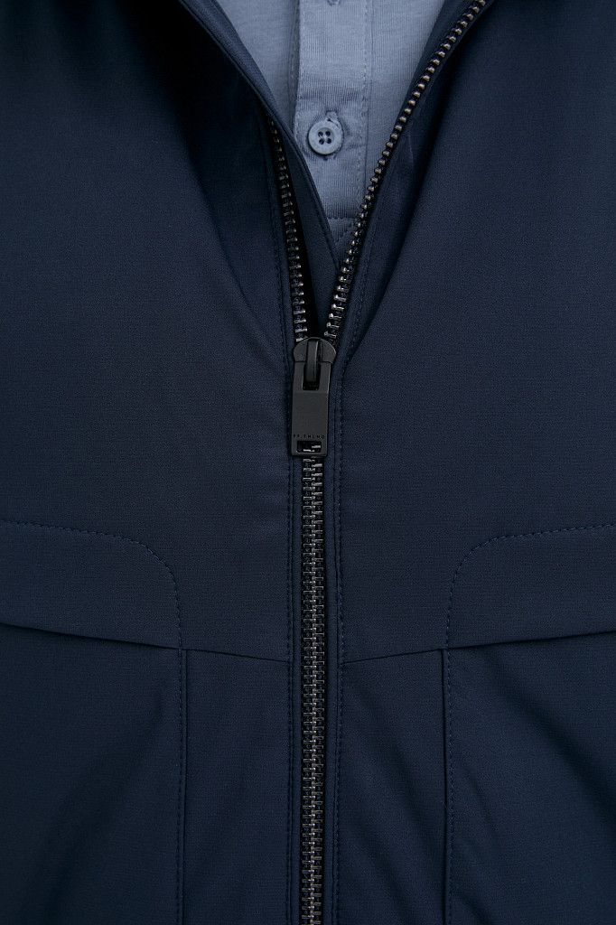 Непромокаемая ветровка с капюшоном Finn Flare, цвет темно-синий, размер L - фото 6