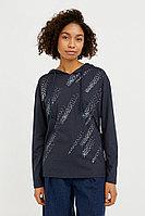 Лонгслив женский Finn Flare, цвет темно-синий, размер 2XL