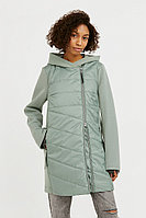 Пальто женское Finn Flare, цвет серо-зеленый, размер 2XL