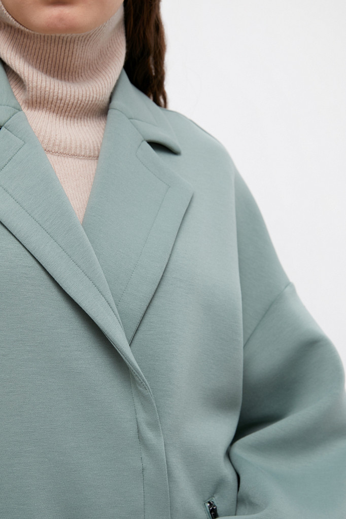 Пальто женское Finn Flare, цвет серо-зеленый, размер 2XL - фото 5