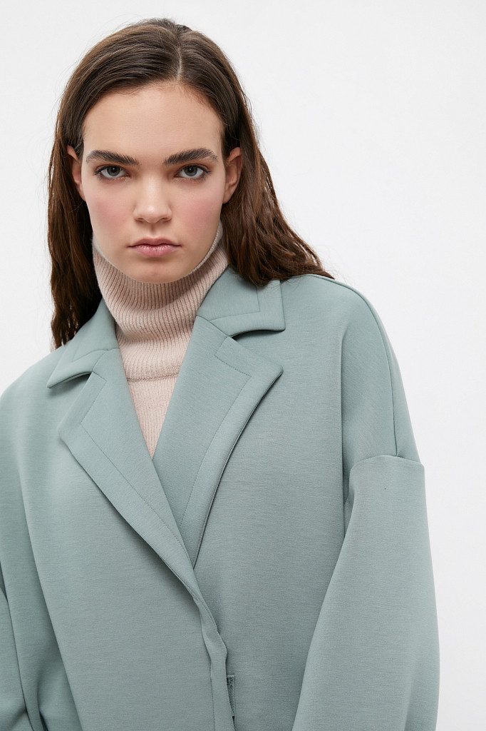 Пальто женское Finn Flare, цвет серо-зеленый, размер 2XL - фото 6