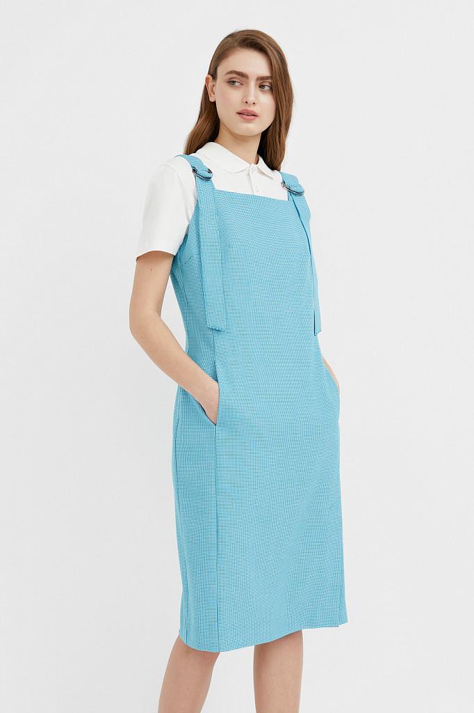 Платье женское Finn Flare, цвет темно-бирюзовый, размер S - фото 1