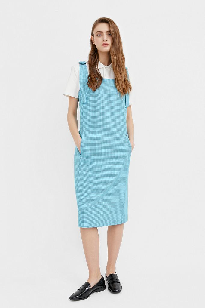 Платье женское Finn Flare, цвет темно-бирюзовый, размер S - фото 3