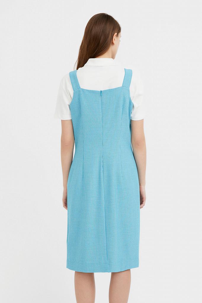 Платье женское Finn Flare, цвет темно-бирюзовый, размер S - фото 4