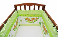 Комплект в кроватку МИШКИ В ГАМАКЕ (7 предметов), фото 1