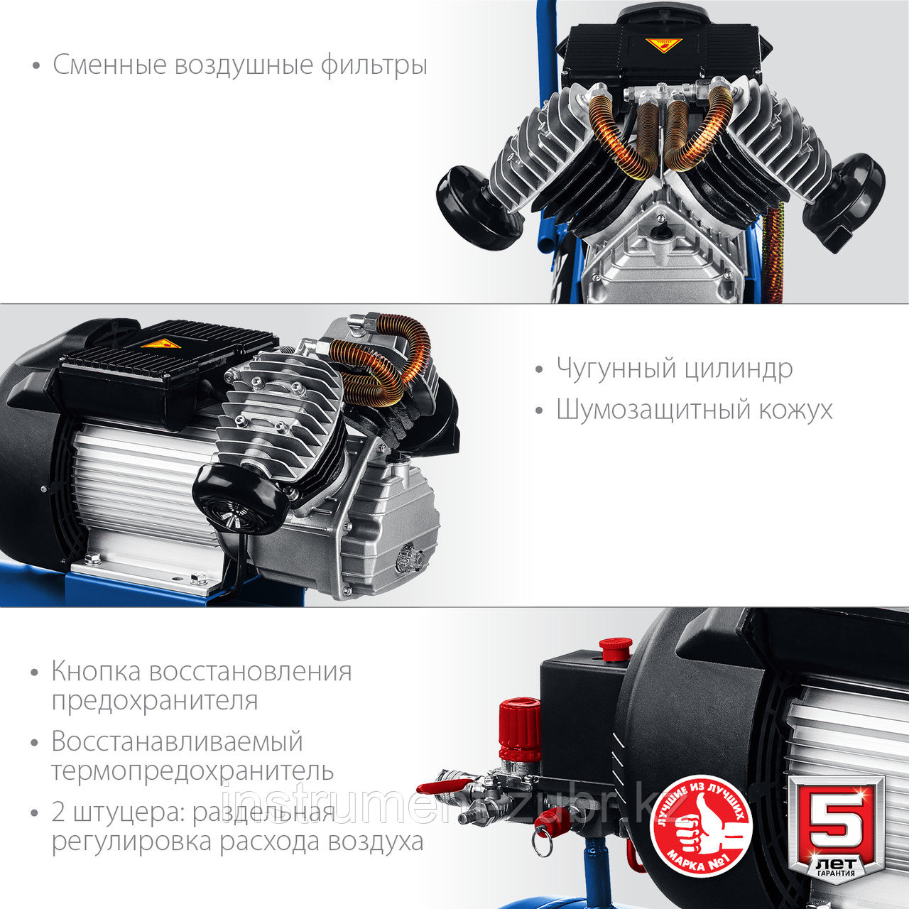 Компрессор воздушный, 400 л/мин, 50 л, 2200 Вт, ЗУБР - фото 6