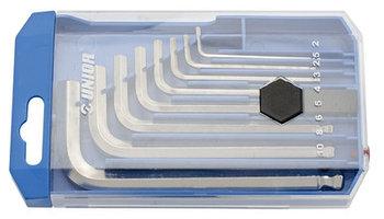 Набор ключей шестигранных с закруглённым жалом в пластиковой коробке - 220/3SPB1 UNIOR
