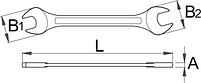Ключ рожковый (полированные головки) - 110/1 UNIOR, фото 2