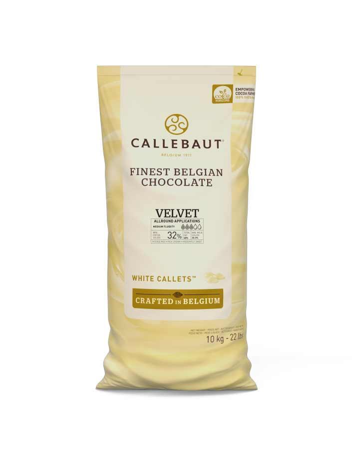 Белый шоколад Callebaut Velvet, мешок 10 кг