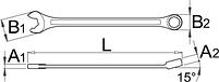 Ключ комбинированный IBEX - 129/1 UNIOR, фото 2