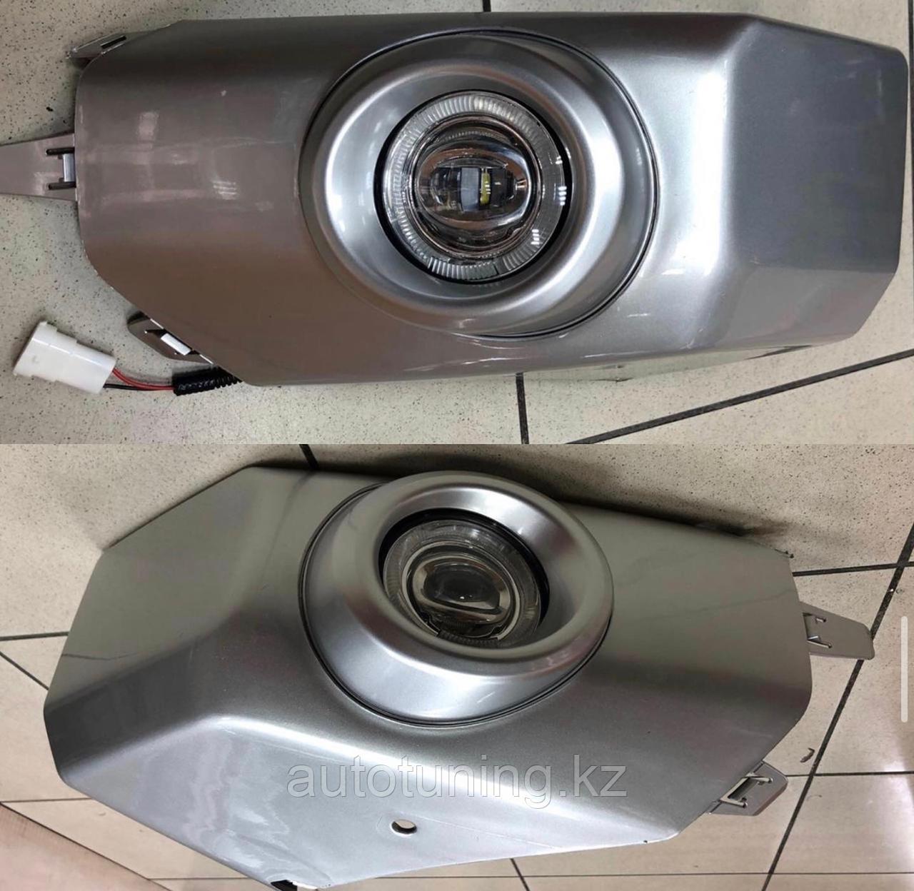 Клыки переднего бампера с ПТФ LED  на Toyota FJ Cruiser 2008-2016