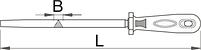 Напильник треугольный, личной с рукояткой - 764H1/2S UNIOR, фото 2