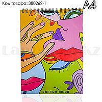 Скетчбук для зарисовок классический с белой бумагой на спирале Sketch Book Big Role 01 210х290 мм 40 листов А4