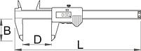Штангенциркуль электронный - 270A UNIOR, фото 2