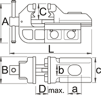 Тиски IRONGATOR с системой быстрого перемещения - 721Q/6 UNIOR, фото 2