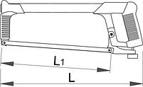 Ножовка по металлу - 750B UNIOR, фото 2