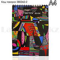 Скетчбук для зарисовок классический с белой бумагой на спирале Sketch Book Big Role 02 210х290 мм 40 листов А4