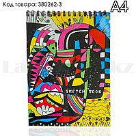 Скетчбук для зарисовок классический с белой бумагой на спирале Sketch Book Big Role 03 210х290 мм 40 листов А4