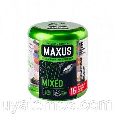 """ПРЕЗЕРВАТИВЫ """"MAXUS"""" MIXED № 15 (набор) в железном кейсе"""
