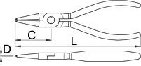 Съёмник внутренних стопорных колец с прямыми концами - 536PLUS/1DP UNIOR, фото 2