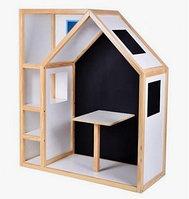 Деревянный домик с меловой доской для детей С-012