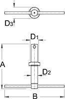 Приспособление для установки кареточного узла - 1607/4 UNIOR, фото 2