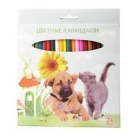 """Карандаши цветные """"VK"""" 24 цветов Мои лучшие друзья карт.упаковка/европодвес заточ."""