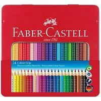 Карандаши цветные, GRIP 2001, 24 цвета, в металлической коробке.