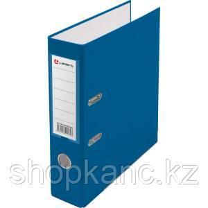 Папка-регистратор Lamark PP 80мм васильковый, металл.окантовка, карман, собранная