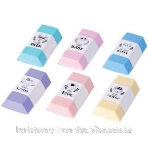 "Ластик Berlingo ""Pastel"", термопластичная резина, цвета ассорти, 50*28*12мм"