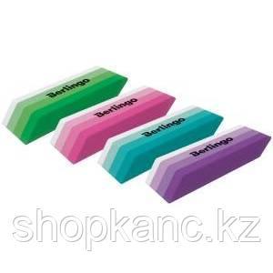 """Ластик Berlingo """"Stripes"""", прямоугольный, скошенный, термопласт. резина, цвета ассорти, 50*19*9мм"""