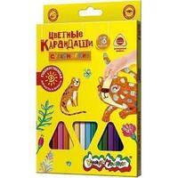 Набор цветных карандашей Каляка-Маляка Премиум 18 цветов, утолщенный супермягкий грифель
