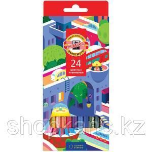 Карандаши Город мечты, 24 цвета.