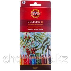 Карандаши акварельные, Mondeluz, 12 цветов.